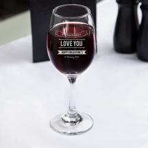 Personalized Valentine's Day Core All-Purpose Wine Glass