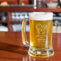 Personalized Valentine's Day Core Beer Mug