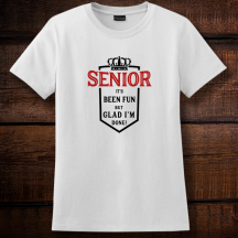 Personalized It's Been Fun But Glad I'm Done, Graduation Ladies T-Shirt, Hanes
