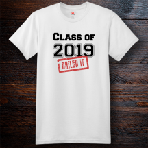 Personalized Nailed It Graduation Cotton T-Shirt, Hanes