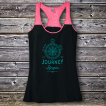 Personalized Let The Journey Begin Graduation Varsity Tank