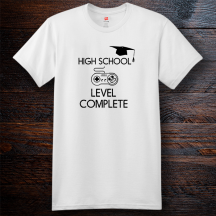 Personalized High School Level Complete Cotton T-Shirt, Hanes