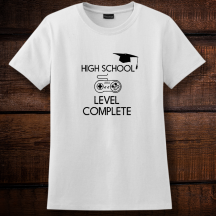 Personalized High School Level Complete, Ladies Nano-T Cotton T-Shirt, Hanes