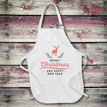 Personalized Happy New Year Full Length Apron with Pockets