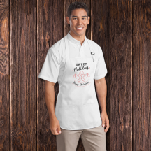 Personalized Sweet Holidays Men Apron With Pouch Pockets