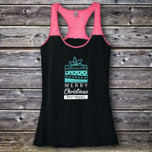 Personalized Merry Christmas Best Wishes Varsity Tank