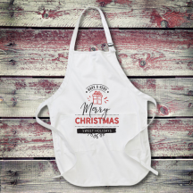 Personalized Merry Christmas Sweet Holidays Full Length Apron with Pockets