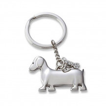 Personalized Puppy Dog With Crystal Bone Keychain With Custom Name