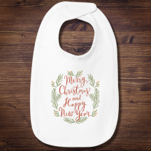 Personalized Merry Christmas & Happy New Year Infant Bib