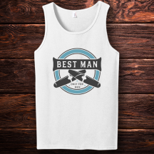 Personalized Best Man Wedding Tank Top