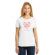 Personalized Love Is In The Air, Ladies Valentine Cotton T-Shirt, Hanes