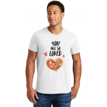 Personalized You Are So Loved Valentine's Cotton T-Shirt, Hanes