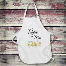 Personalized Fabylous Mom Full Length Apron with Pockets
