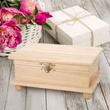 Personalized  Beautiful & Elegant Wooden Box with Ball Legs