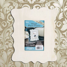 "Personalized Stylish Engravable Victorian Wooden Picture Frame 4"" x 6"""