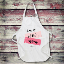 Personalized I'm A Cool Mom Full Length Apron with Pockets