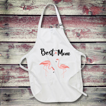 Personalized Best Mom Ever Full Length Apron with Pockets