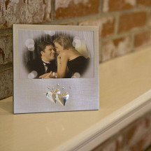 Decorative Silver Double Heart Photo Frame For A Beautiful Gift