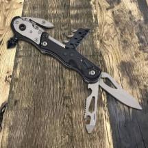 Personalized Black Multi Tool Glass Breaker