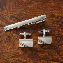 Executive Cufflinks Gift Set with Tie Pin