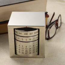 Personalized Elegant And Luxurious Perpetual Calendar Cube
