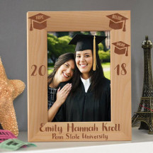 """Graduation Personalized Wooden Picture Frame 5"""" x 7"""" Finished"""