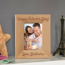 "Happy Fathers' Day Personalized Wooden Picture Frame 3 1/2"" x 5"" Finished (Frames)"