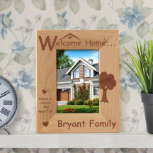 "Home is Where the Heart Is Personalized Wooden Picture Frame 3 1/2"" x 5"" Finished (Frames)"