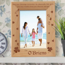 "Personalized Blessings Wooden Picture Frame 5"" x 7"" Finished"