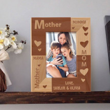 "Mother's Love Personalized Wooden Picture Frame 3 1/2"" x 5"" Finished (Frames)"