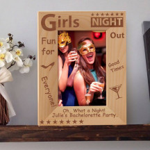 """Girls' Night Out Personalized Wooden Picture Frame 4"""" x 6"""" Finished (Frames)"""
