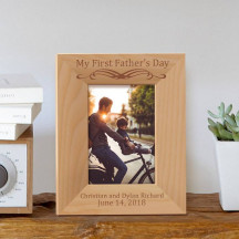 "My First Father's Day Personalized Wooden Picture Frame 3 1/2"" x 5"" Finished (Frames)"