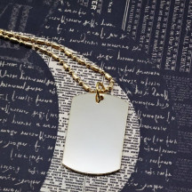 Personalized Gold Dog Tag Necklace