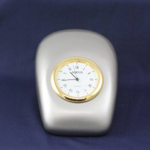 """Personalized Decorative Lovely """"Tron"""" Silver Pearl Metal Desk Clock"""