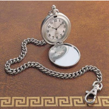 """Personalized 12"""" Chained Pocket Watch with Custom NameMassage Engraved"""