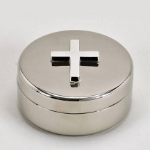 Personalized Round Keepsake Box With Religious Cross