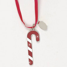 Personalized Glitter Galore Candy Cane Ornament with Easy Engraving