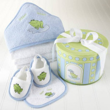 4 Piece Hat Box Bath Time Gift Set