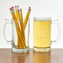 Personalized Over-sized Glass Pint Tankard