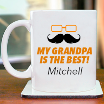 My Grandpas Is The Best! Personalized With Fully Name Printed Mug