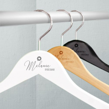 Personalized Engraved Name of the Bridesmaid Wooden Wedding Hangers