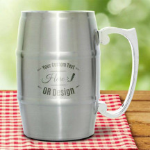 Personalized Beautiful Stainless Steel Barrel Mug with Handle