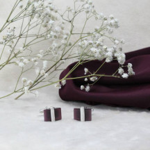 Elegant Premium Purple Cufflinks are a Beautiful Addition to Wardrobe