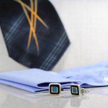 Gorgeous High-Quality Blue & Black Cuff Links Made Of Premium Material