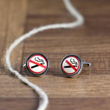No Smoking Novelty Cuff Links Shows Your Stance Against Smoking