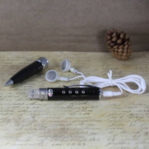 Pen Shaped Sound Recorder MP3 & WMA Player 4GB With USB 2.0, Earphone
