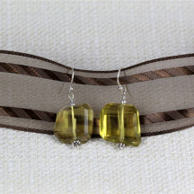 Chunky Lemon Quartz Earrings