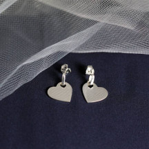Heart Dangle Post Earrings