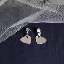Heart Dangle Post Earrings