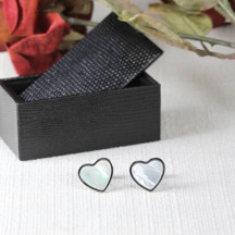 Beautiful Heart Novelty Cuff Links Great Gift For Both Men Or Women